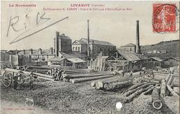14 LIVAROT ETABLISSEMENT LEROY SCIERIE PERFORE E L - Livarot