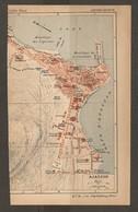 CARTE PLAN 1935 N° 9 - CORSE AJACCIO MOUILLAGE DE LA CITADELLE GARE BATTERIE DU MAESTRELLO - Topographische Karten