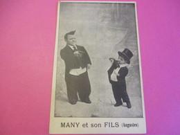 Carte Postale - Portrait D'Artiste/ CLOWNS / MANY Et Son Fils (Augustes) / Vers 1920-1930  CMH45 - Autres