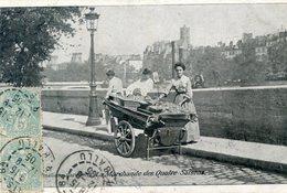 75  PARIS  5e AR   SCENES PARISIENNES LA MARCHANDE DES QUATRE SAISONS - District 05