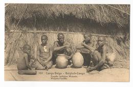 Belgisch Congo Belge Famille Indigène Wahutu CPA PK EP - Congo Belge - Autres