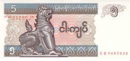 5 Kyatts Myanmar 1997 UNC - Myanmar