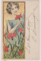 ILLUSTRATEUR---Femme Aux Oeillets---art Deco - Illustrators & Photographers