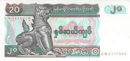 20 Kyats Myanmar UNC - Myanmar
