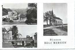 Bissen - Hôtel Mergen (Multivue - Ca. 1956) - Cartes Postales