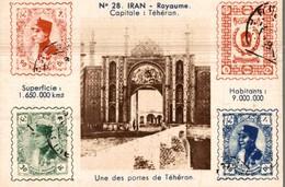 CHROMO  MACHINES A ECRIRE P. JULLIENNE PARIS  IRAN ROYAUME CAPITALE TEHERAN  UNE DES PORTES DE TEHERAN - Other