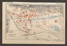 CARTE PLAN 1934 N° 231 - CHAMONIX GARE PLM CASINO VILLA NIVERT PATINOIRE CAF LAC DU BOUCHET - Cartes Topographiques