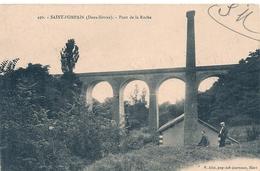 Cpa 79 St Pompain  Pont De La Roche - Francia