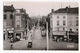 CPA      87    LIMOGES       -   PLACE DENIS DUSSOUBS AVENUE DE LA LIBERATION     -    CAFE DE LA PREFECTURE  TROLLEY - Limoges