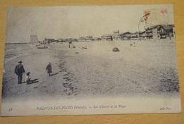 Cpa - Palavas Les Flots - Les Chalets Et La Plage - Palavas Les Flots