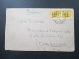 SBZ 1948 Nr.191 MeF Senkrechtes Paar! Berlin Vorläufer Stempel Berlin Hohenschönhausen 9.7.48 Auslandsbrief Frankreich - Sowjetische Zone (SBZ)