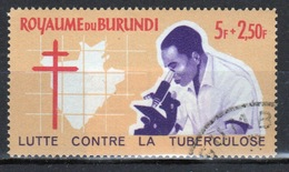 Burundi 1965 Single 5f + 2.50f Stamp From The Anti-TB Campaign Set. - 1962-69: Used