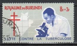 Burundi 1965 Single 8f + 3f Stamp From The Anti-TB Campaign Set. - Burundi