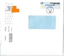 Cachet Manuel La Poste Sans Numéro Sur Vignette Avions Papier 3.80€ + MTI GF 39376A - Marcofilie (Brieven)