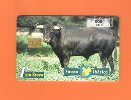 "CHIPCARD SPAIN SERIE FAUNA IBÉRICA ""TORO BRAVO"" P434 - EX: 8000 - USED - Emissions Privées"
