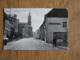 SILENRIEUX L'Eglise Et La Rue Royale Animée Commune De Cerfontaine Prov Namur België Belgique Carte Postale Postcard - België