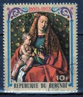 Burundi 1973 Single 10f Stamp From The Christmas Paintings Set. - 1970-79: Used