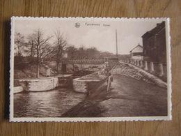 FARCIENNES Ecluse Péniche Bateau  Province Du Hainaut België Belgique Carte Postale Postcard - Farciennes