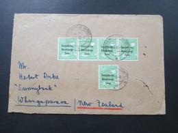 SBZ 1948 Nr. 185 (5) MeF Waagerechter 4er Streifen! Auslandsbrief Nach Neu Seeland!! Whangaparaoa (Halbinsel) RRR - Zona Soviética