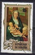 Burundi 1974 Single 10f Stamp From The Christmas Paintings Set. - 1970-79: Used