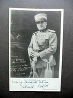 Autografo Giacomo Lauri Volpi Tenore Fotocartolina Uniforme Visita Re 1931 Raro - Autografi