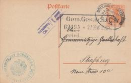 France Alsace Ambulant Drülingen-Lützelburg Sur Entier Postal Censuré 1918 - Postmark Collection (Covers)