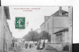 AILLEVILLE  Environs BAR SUR AUBE   LA GRANDE RUE  PERSONNAGES     DEPT 10 - France