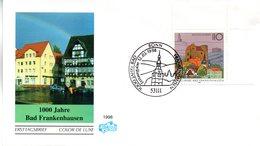 """BRD Schmuck-FDC """"1000 Jahre Bad Frankenhausen"""", Mi. 1978 ESSt  12.3.1998 BONN - FDC: Sobres"""
