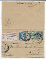 SEMEUSE - 1925 -CARTE-LETTRE ENTIER RECOMMANDEE ! Avec COMPLEMENT PASTEUR + BLANC De BORDEAUX - 1921-1960: Période Moderne