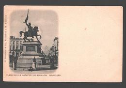 Brussel / Bruxelles - Place Royale Godefroy De Bouillon - édition G. Blümlein - Dos Simple - Places, Squares
