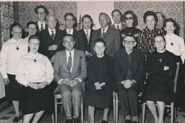MERELBEKE   FOTO 1973    --  DIAMANTEN KLOOSTERJUBILEUM  +- 15 X 8 CM - Merelbeke