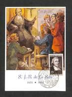 FRANCE - CARTE MAXIMUN 1951- S. J. B. De La Salle - Peinture Originale Du Maître Joseph Speybrouck - 1950-59