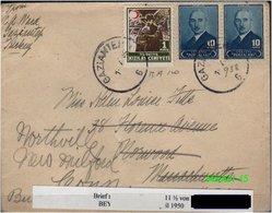 Türkei Rotes Kreuz - Mi. Nr. 94 - Auf Brief ! - 1921-... Republik