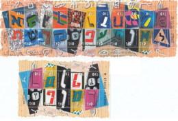Israele - 2001 - Nuovo/new MNH - Lettere - Mi N. 1580/1606 - Blocchi & Foglietti