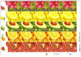 Israele - 2009 - Nuovo/new MNH - Frutta - Sheet - Mi N. 2033/37 - Blocchi & Foglietti