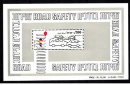 Israele - 1982 - Nuovo/new MNH - Sicurezza Stradale - Sheet - Mi Block N. 21 - Blocchi & Foglietti