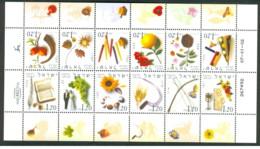 Israele - 2002 - Nuovo/new MNH - Mesi Dell'anno - Sheet - Mi N. 1649/60 - Blocchi & Foglietti
