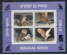 Israele - 1987 - Nuovo/new MNH - Uccelli - Rapaci - Sheet - Mi Block N. 33 - Blocchi & Foglietti