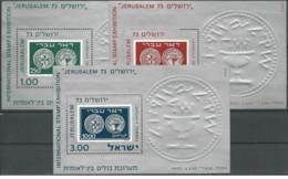 Israele - 1974 - Nuovo/new MNH - JERUSALEM - Sheet - Mi Block N. 11/13 - Blocchi & Foglietti