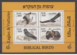 Israele - 1985 - Nuovo/new MNH - Uccelli - Rapaci - Sheet - Mi Block N. 27 - Blocchi & Foglietti