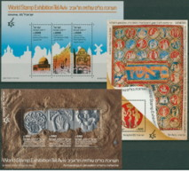 Israele - 1985 - Nuovo/new MNH - Israphil - Sheet - Mi Block N. 28/30 - Blocchi & Foglietti