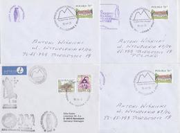POLAND ANTARCTIC EXPEDITION 1998/2000 POLSKA WYPRAWA ANTARKTYCZNA WARSZAWA LOT OF 4 MAIL COVERS ENVELOPPES ANTARCTIQUE - Antarktis-Expeditionen