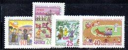 APR313 - RUSSIA URSS 1960 , Serie Unificato N. 2295/2298  ** - 1923-1991 URSS