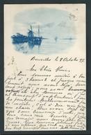 Carte Pionnière Représentant Un Moulin à Vent. Circulé En 1897 - Cartes Postales