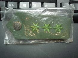 Anciennes Pattes épaules Police Allemande De Couleur Vert, Emballées 3 étoiles - Equipement