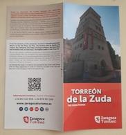 FOLLETO TURÍSTICO TORREÓN DE LA ZUDA. ZARAGOZA - ESPAÑA. - Folletos Turísticos