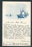 Carte Pionnière Représentant Moulins à Vent Et Bateaux. Circulé En 1898. 2 Scans. - Cartes Postales