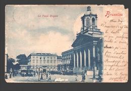 Brussel / Bruxelles - La Place Royal - Dos Simple - 1900 - Paardentram - Places, Squares