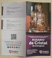FOLLETO TURÍSTICO ROSARIO DE CRISTAL. ZARAGOZA - ESPAÑA. - Folletos Turísticos