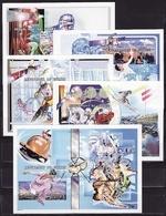 Guinea, 2001, Winter Olympic 2002, 4 Minisheets +5 Blocks Imperforated 205 Euro - Winter 2002: Salt Lake City